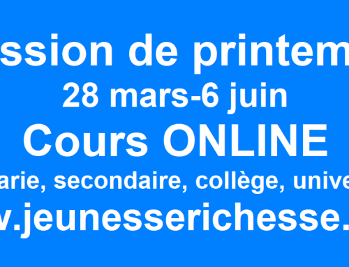 SESSION DE PRINTEMPS ONLINE